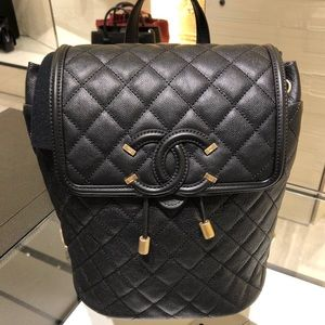 CHANEL Bags - Authentic Chanel Filigree backpack caviar leather c091e79f8fe2